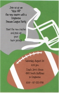 football helmet invitation