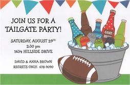 Tailgate themed invitation
